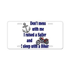 Raised a Sailor Sleep with a Aluminum License Plat