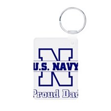 Proud Navy Dad Keychains