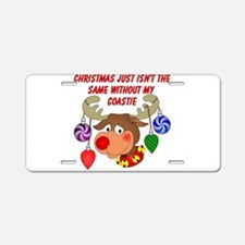 Christmas without my Coastie Aluminum License Plat
