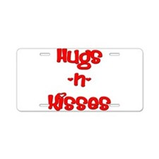 Hugs and Kisses Aluminum License Plate