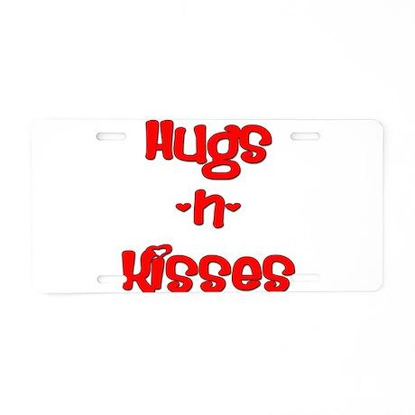Hugs and Kisses Aluminum License Plate