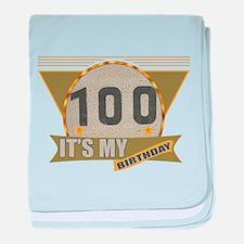 100th Birthday baby blanket
