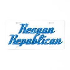 Reagan Republican (blue) Aluminum License Plate