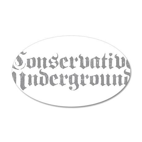 Conservative Underground 38.5 x 24.5 Oval Wall Pee
