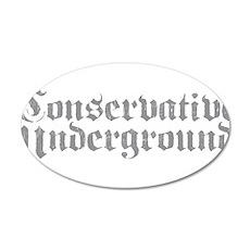 Conservative Underground 22x14 Oval Wall Peel
