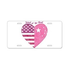 Joined at the Heart (pink) Aluminum License Plate