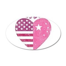 Joined at the Heart (pink) 38.5 x 24.5 Oval Wall P