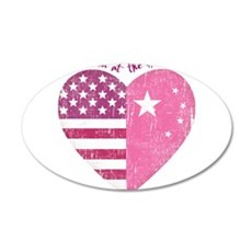 Joined at the Heart (pink) 22x14 Oval Wall Peel