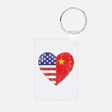 Family Heart Keychains