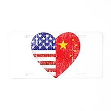 Family Heart Aluminum License Plate