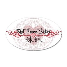 Red Thread Little Sister 22x14 Oval Wall Peel