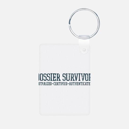 Dossier Survivor (dark teal) Keychains