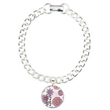 Paternal Grandma with Flowers Charm Bracelet, One