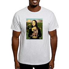 Mona & her Chihuahua (LH) Ash Grey T-Shirt