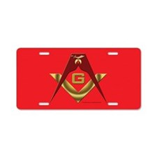Shriners Roots Aluminum License Plate
