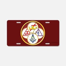 York Rite Aluminum License Plate
