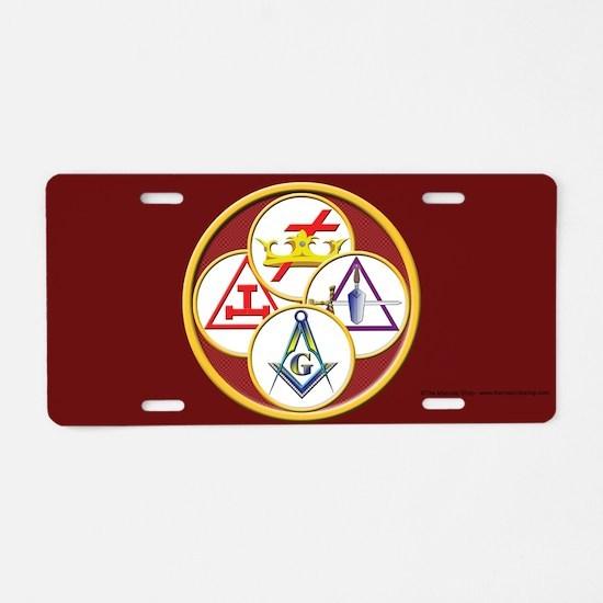 York Rite Aluminum License Plate