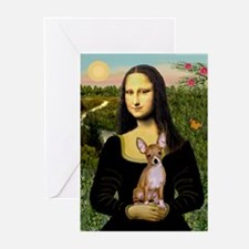 Mona & her Chihuahua (#2) Greeting Cards (Package