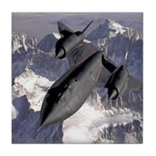 SR71 Blackbird Tile Coaster