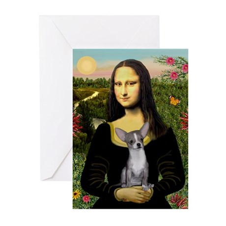 Mona & her Chihuahua #5 Greeting Cards (Package of