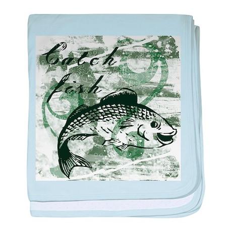 Catch Fish baby blanket