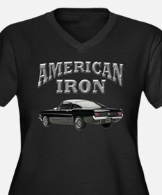 American Iron - Mustang Women's Plus Size V-Neck D
