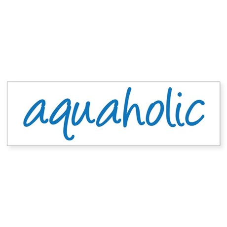 aquaholic - 1 Sticker (Bumper)