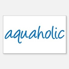 aquaholic - 1 Sticker (Rectangle)