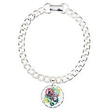 Music Swirl Charm Bracelet, One Charm