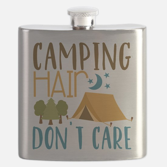 Camping Hair Don't Care Flask