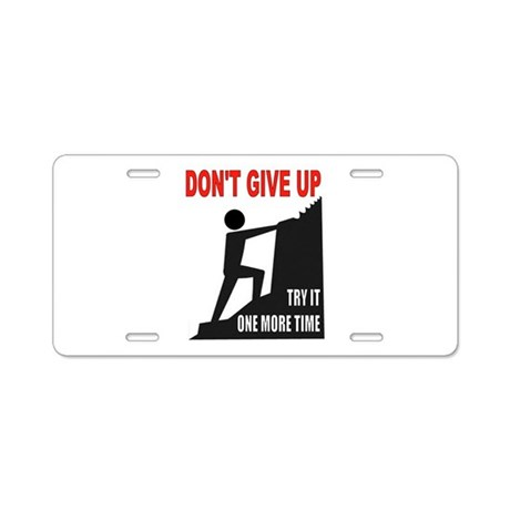 YOU CAN DO IT Aluminum License Plate