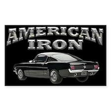 American Iron - Mustang Decal