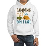 Camping hair dont care Light Hoodies