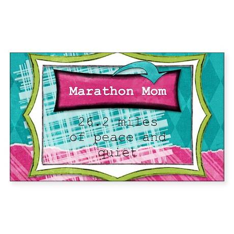 Marathon Mom Sticker (Rectangle)