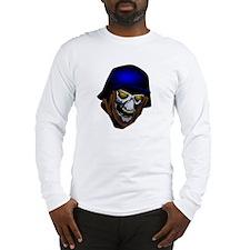 German War Skull/Zombie Long Sleeve T-Shirt