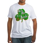 Kiss Me I'm Irish Fitted T-Shirt