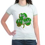 Kiss Me I'm Irish Jr. Ringer T-Shirt