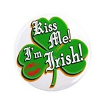 "Kiss Me I'm Irish 3.5"" Button (100 pack)"