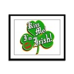 Kiss Me I'm Irish Framed Panel Print