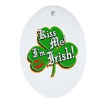 Kiss Me I'm Irish Ornament (Oval)