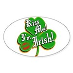 Kiss Me I'm Irish Sticker (Oval)