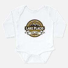 Lake Placid Tan Logo Long Sleeve Infant Bodysuit