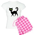Cat With Green Eyes Women's Light Pajamas