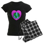 Love Our Planet Women's Dark Pajamas
