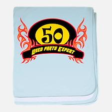 50th Birthday baby blanket