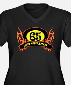 65th Birthday Women's Plus Size V-Neck Dark T-Shir