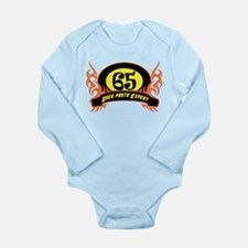 65th Birthday Long Sleeve Infant Bodysuit