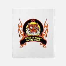 55th Birthday Throw Blanket