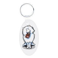 American Eskimo Dog Keychains