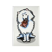 American Eskimo Dog Rectangle Magnet